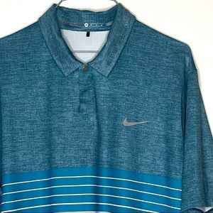 Nike Tiger Woods Coll Golf Polo Shirt Blue M